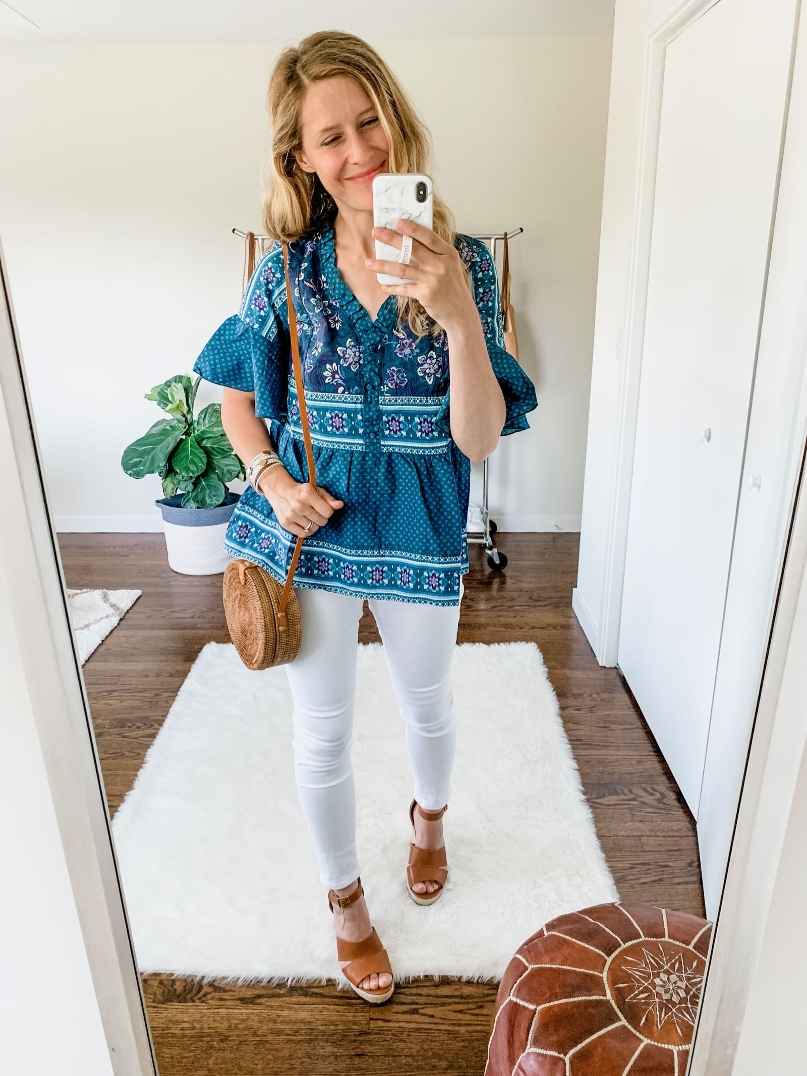 Cute mixed print top at Walmart for $22!
