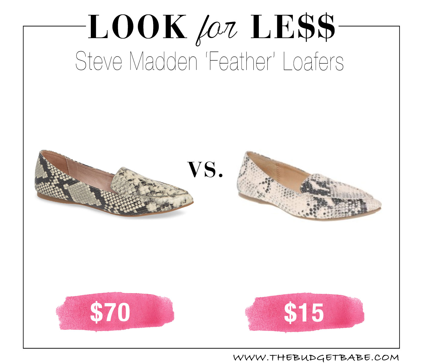 Steve Madden look for less at Walmart!