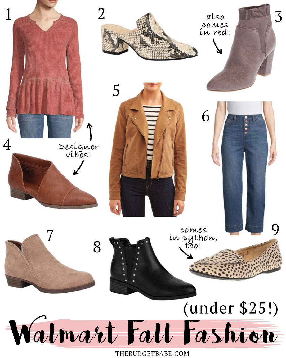 Walmart fall fashion is so good this season! Can't believe all these pieces are $25 or less!
