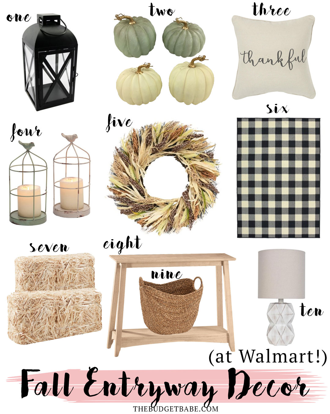 Fall entryway decor on a budget with Walmart