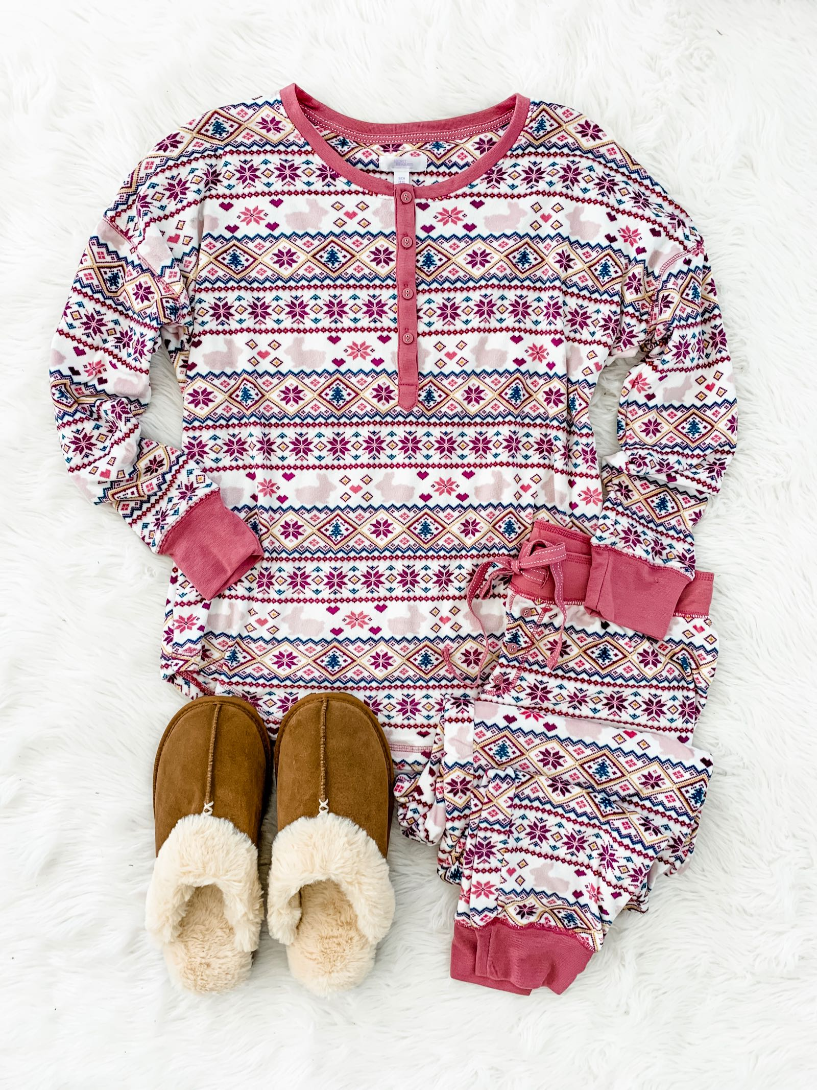 Cutest fair isle pajamas for $20 and Ugg dupes for $13!