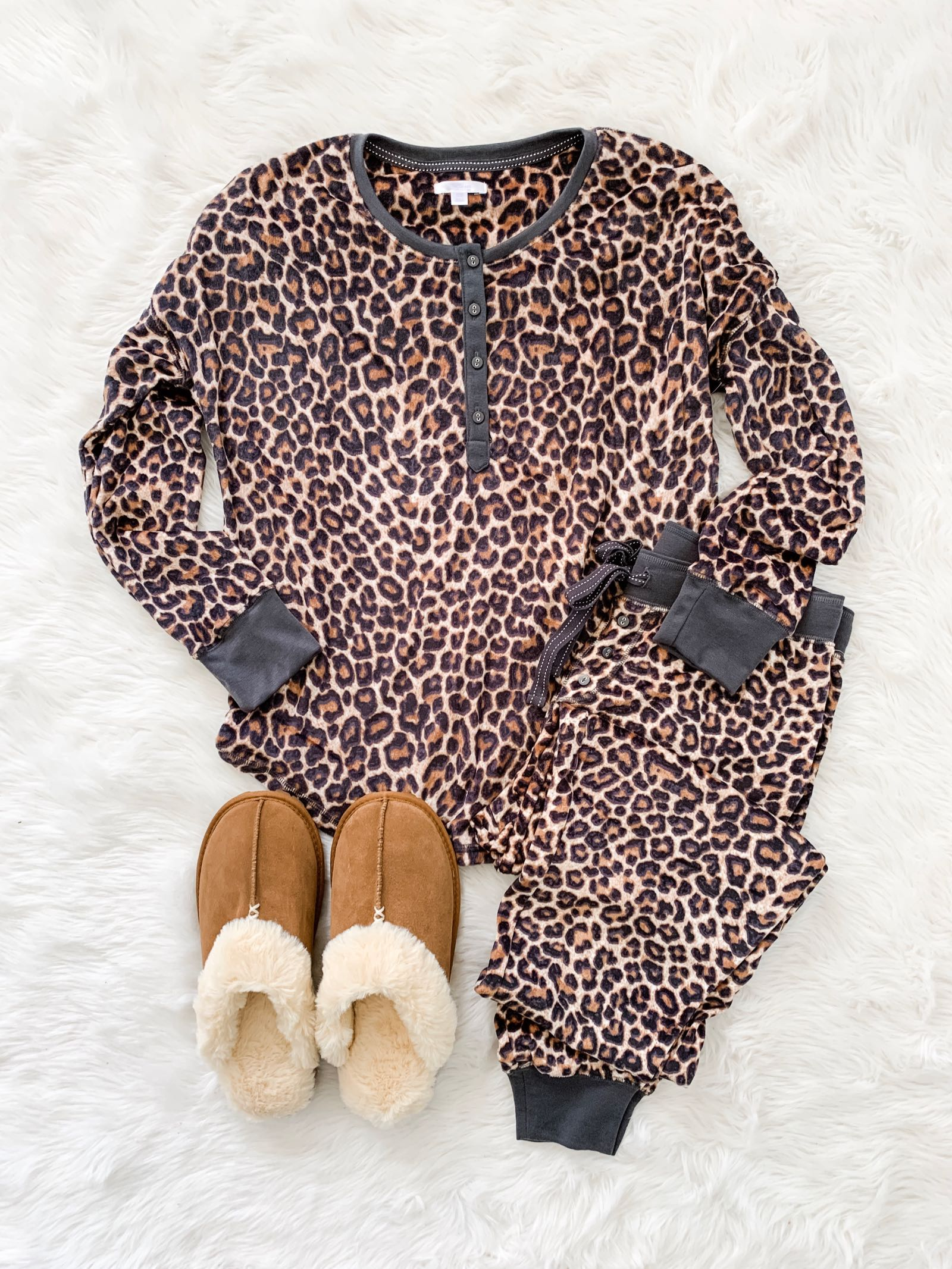 Leopard pajamas for just $20! So soft and cute