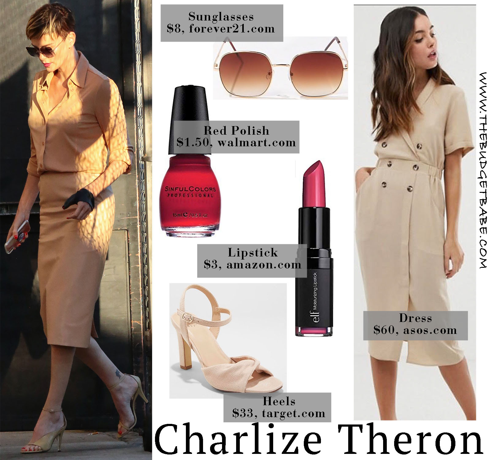 Charlize Theron is Chic in all neutral!