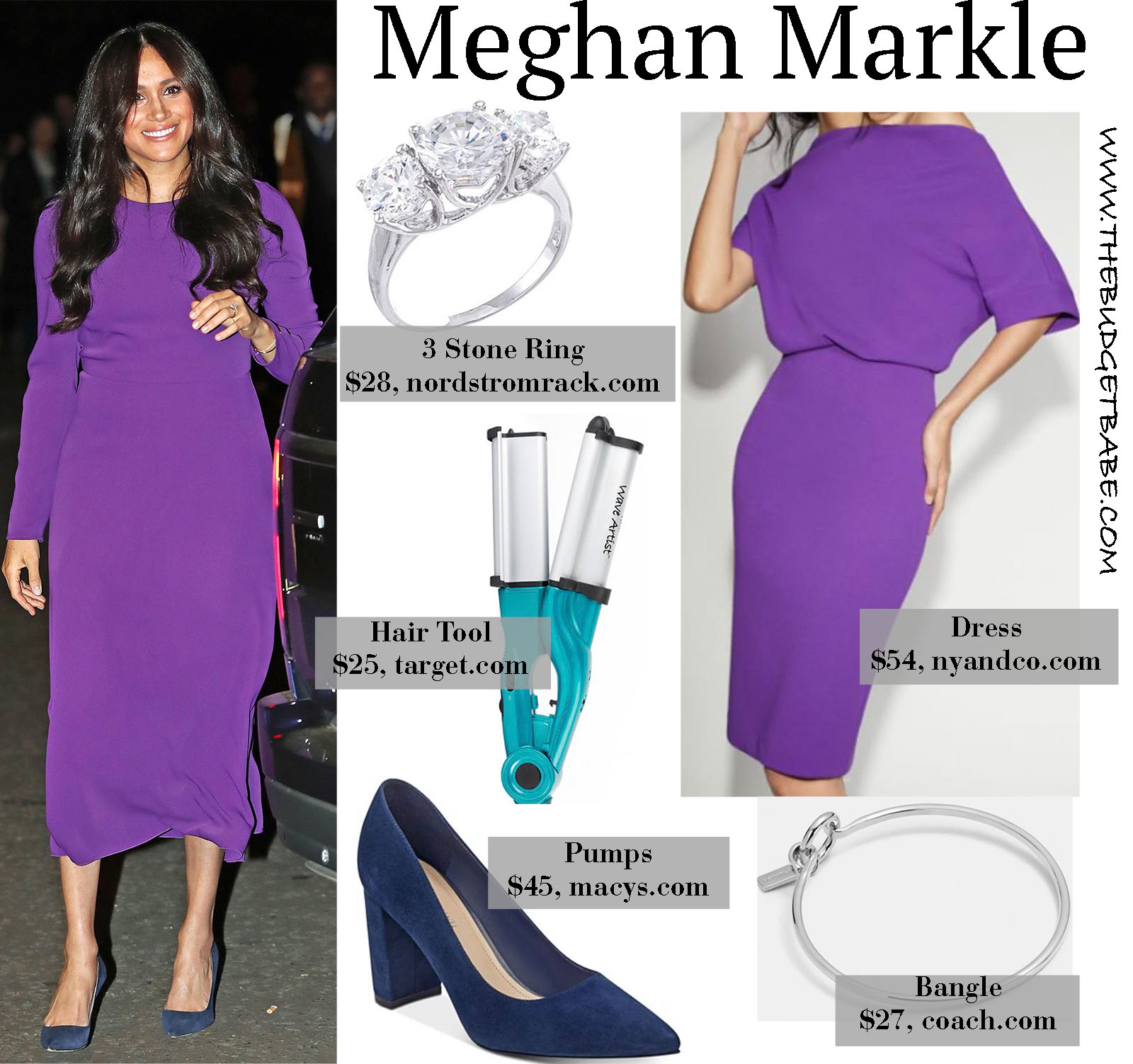 Meghan Markle steps out in a bright purple dress that we love!
