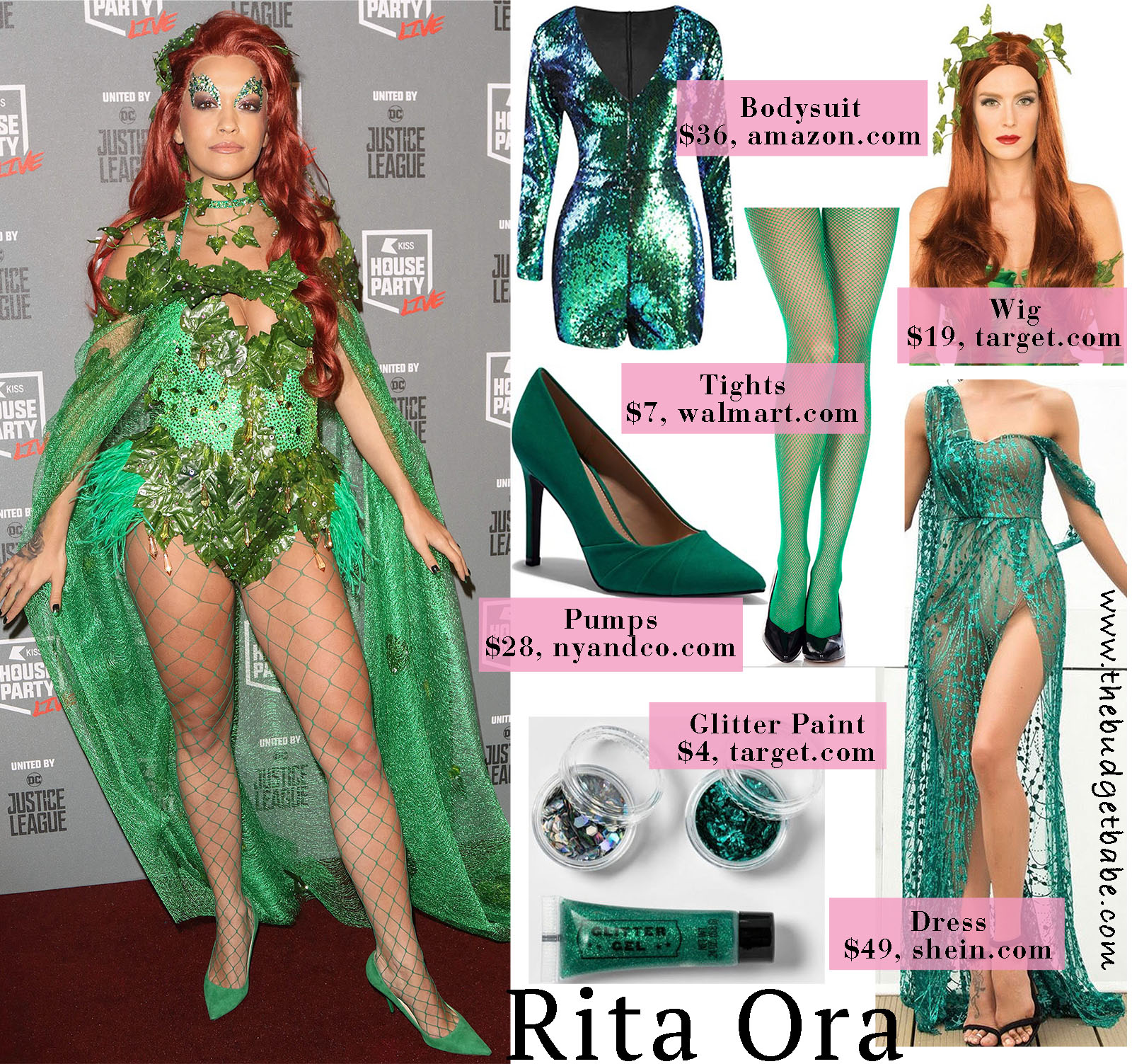 Rita Ora turns heads in a bright green costume!