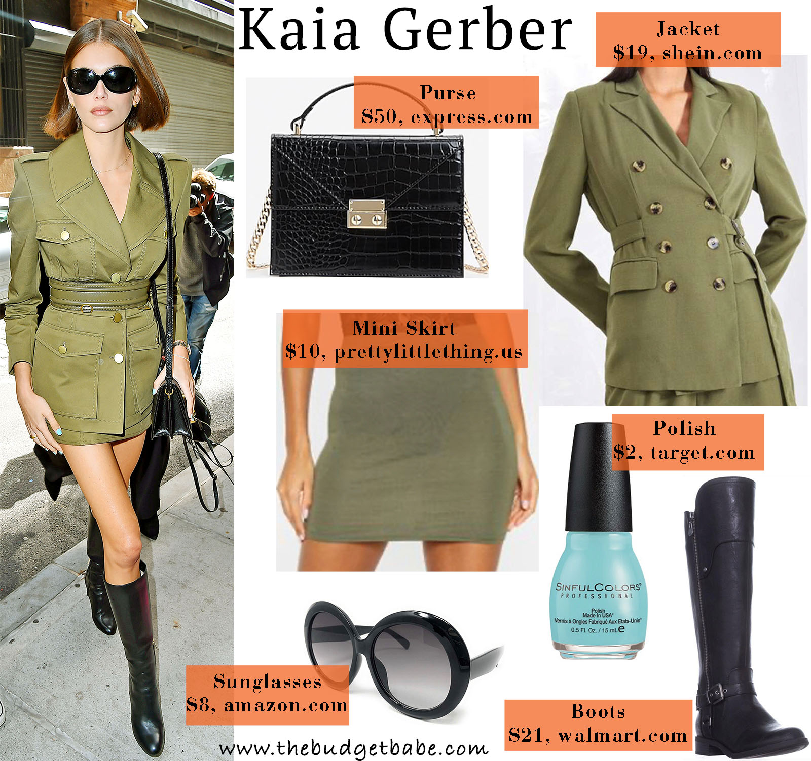 Kaia Gerber is impossibly chic in all green!