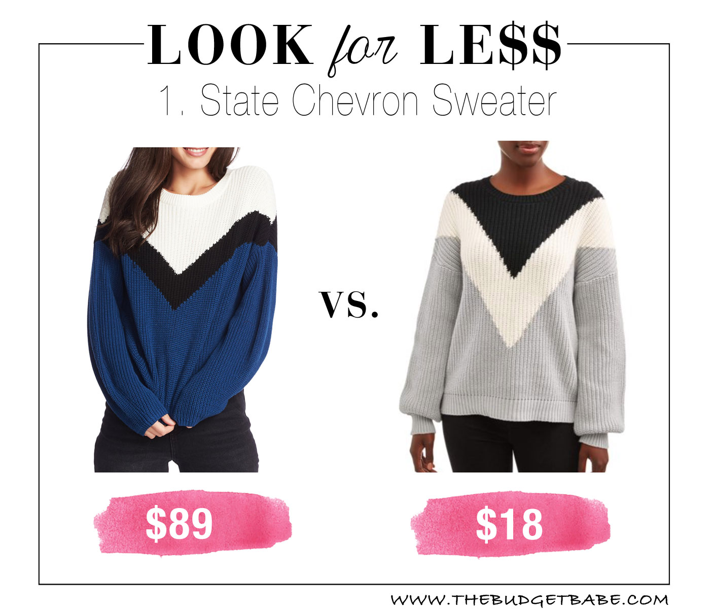 Chevron sweater at Walmart!