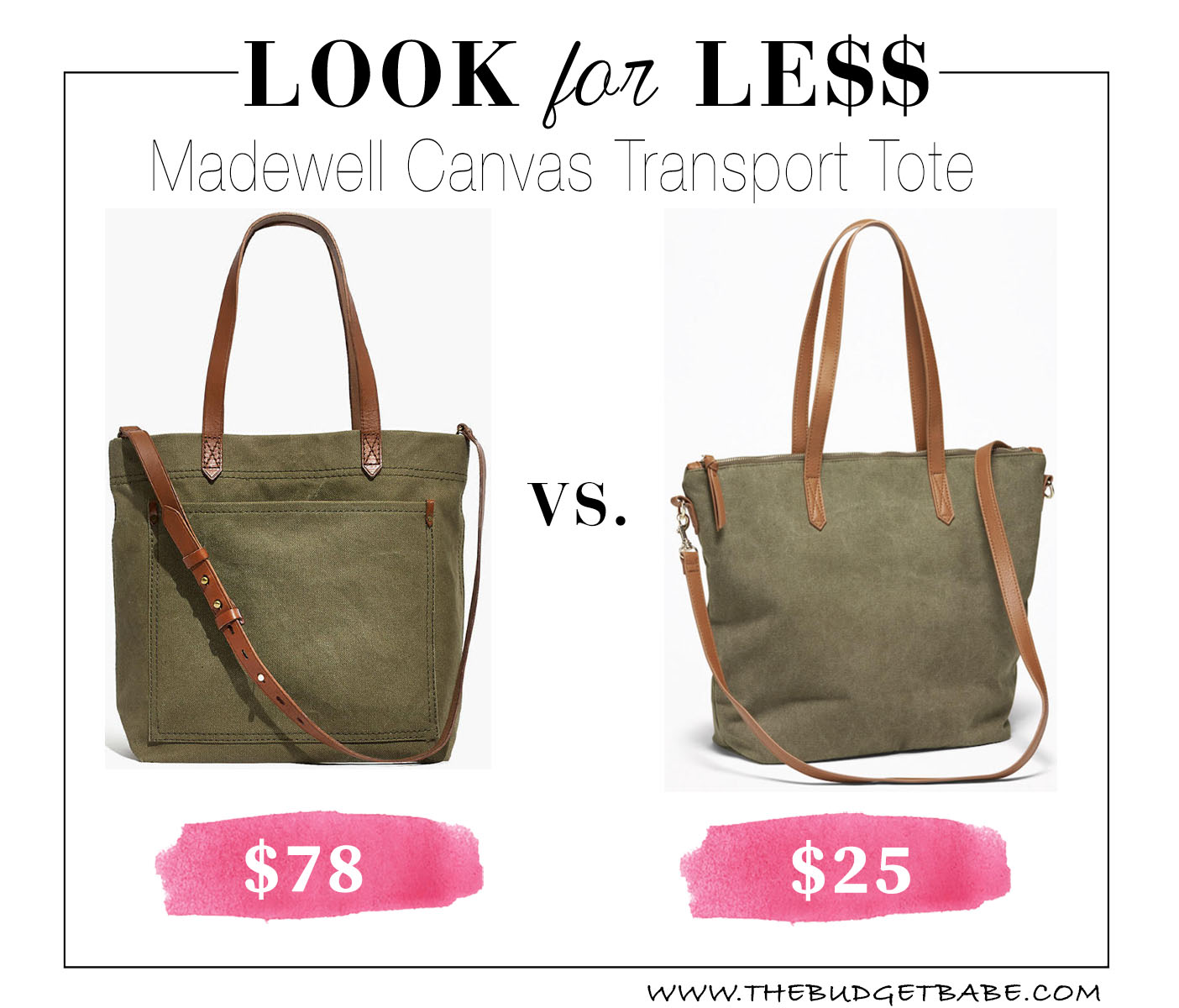 Get a dupe of Meghan Markles Madewell canvas tote for less!