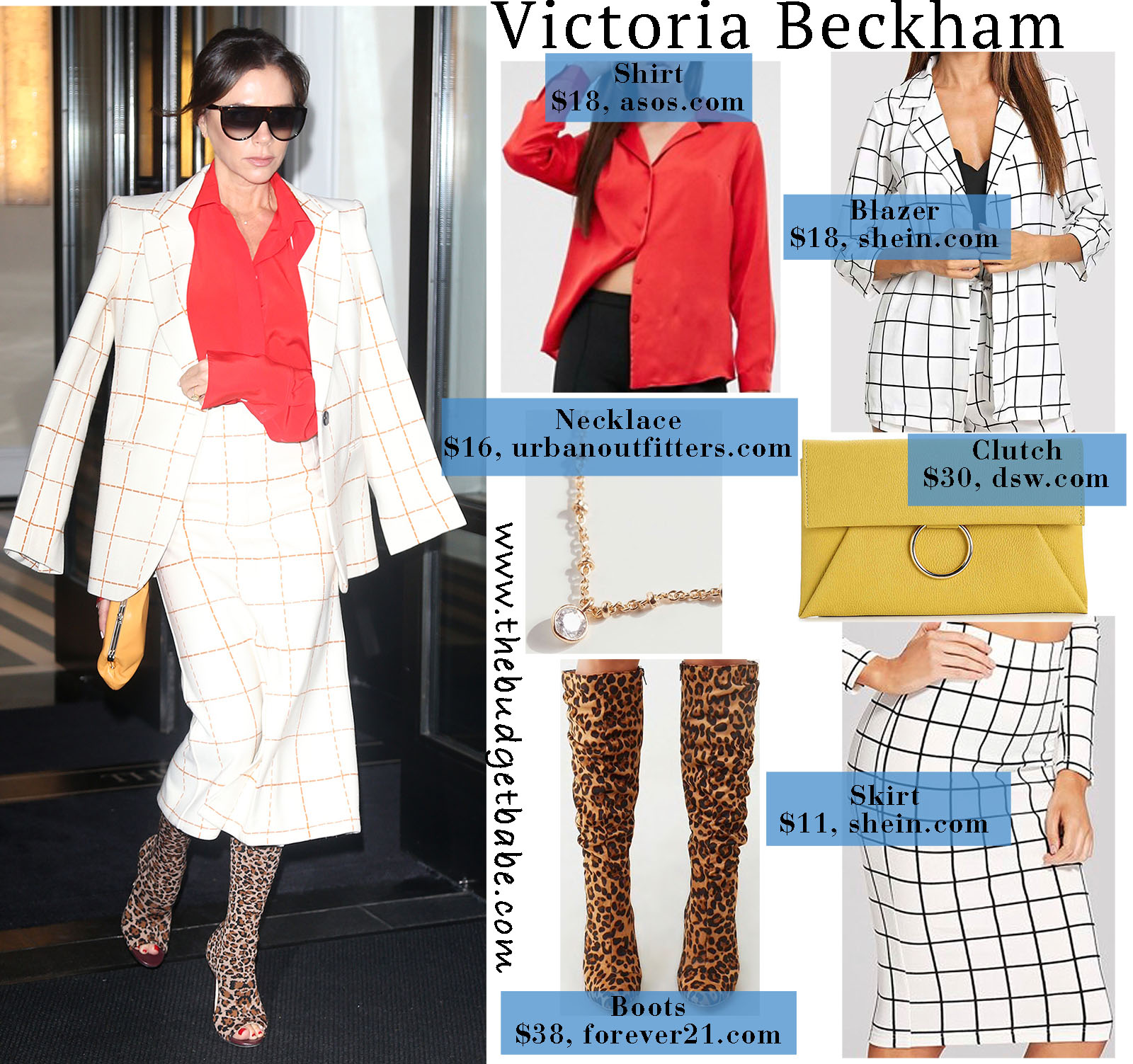 Victoria Beckham steps out in a fun and sophisticated skirtsuit!
