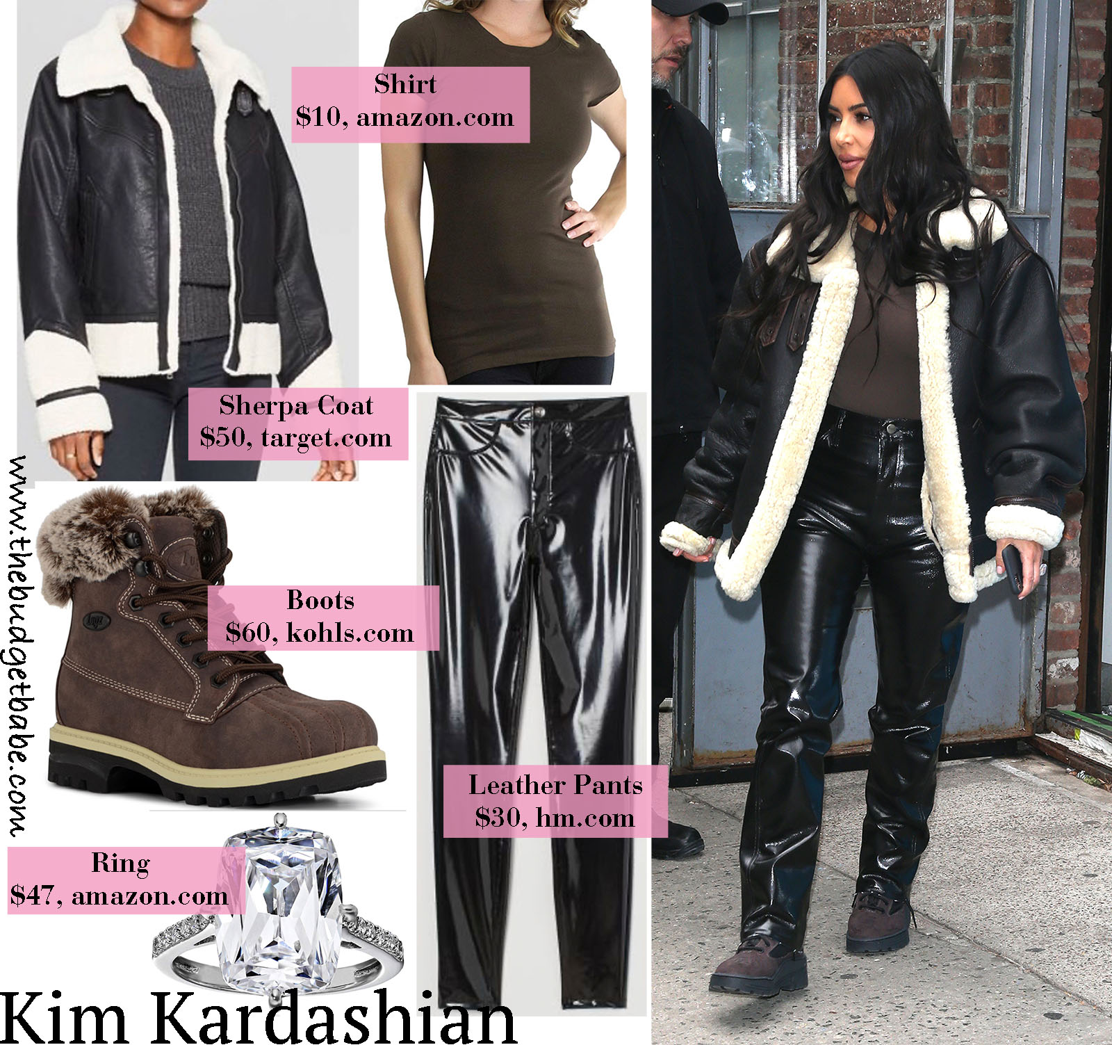 Kim Kardashian is cozy in a stylish sherpa coat!