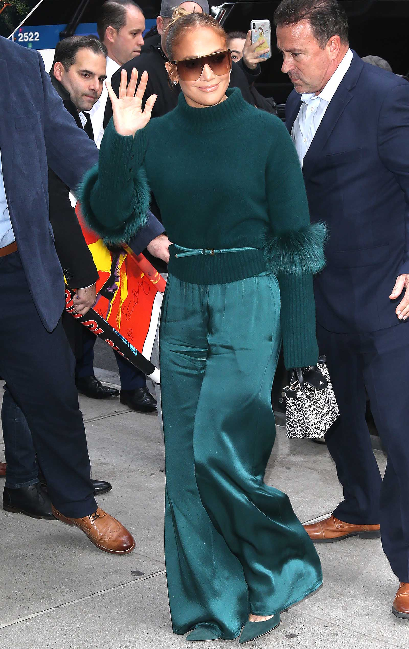 J Lo looks perfect in all green!