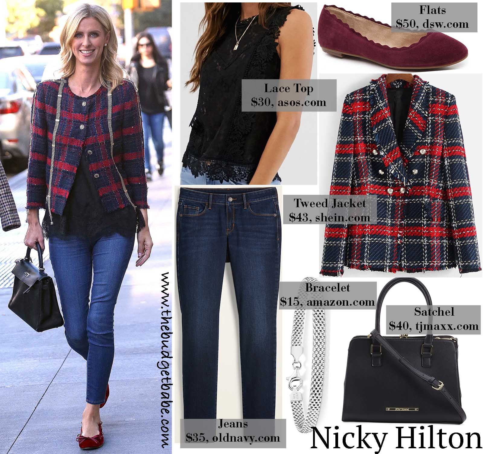 Nicky Hilton's tweed jacket is perfect for winter!