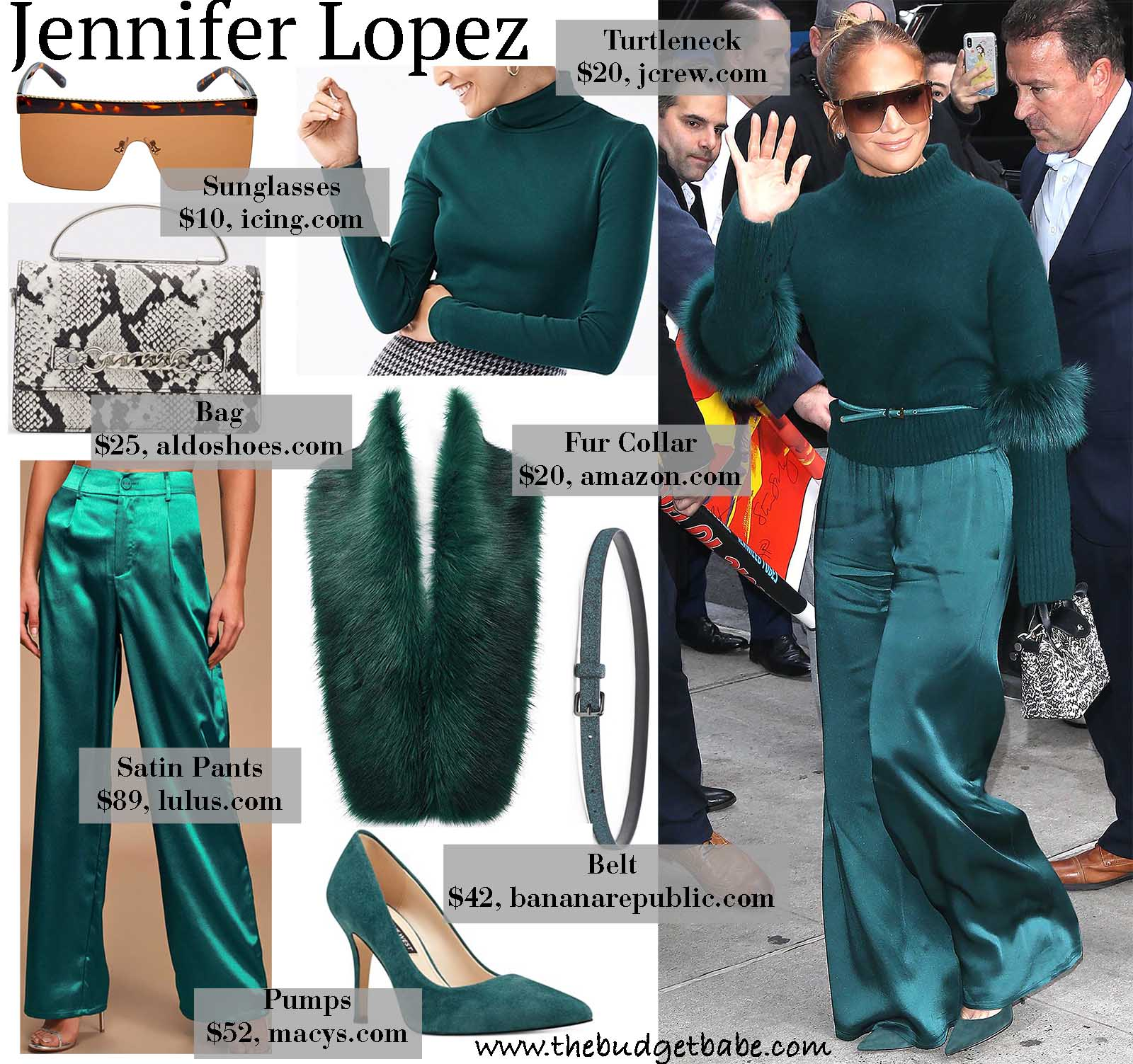 Jlo looks perfect in all green!