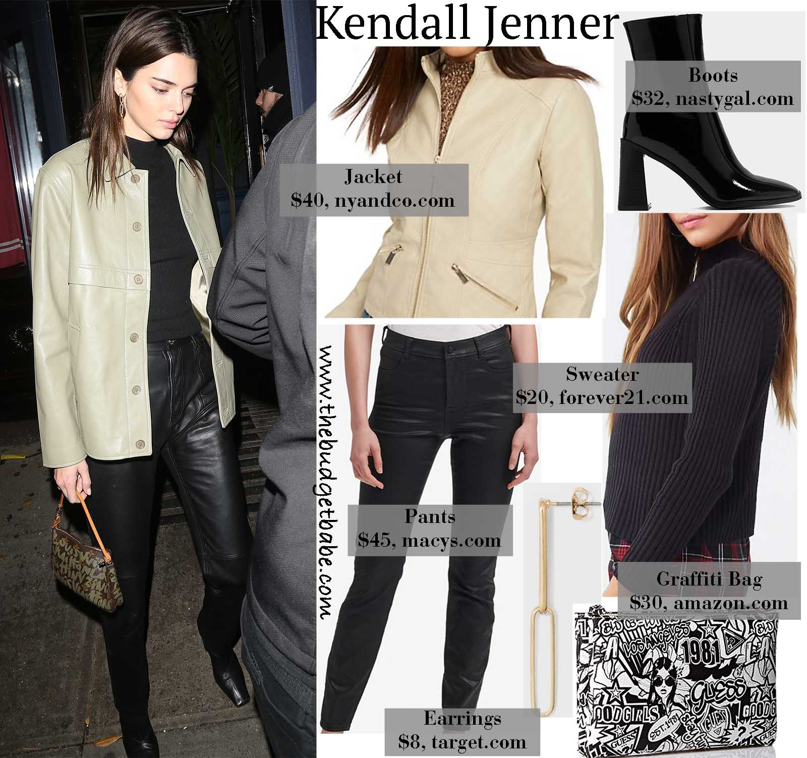 Kendall Jenner keeps it stylish and simple in black and cream!