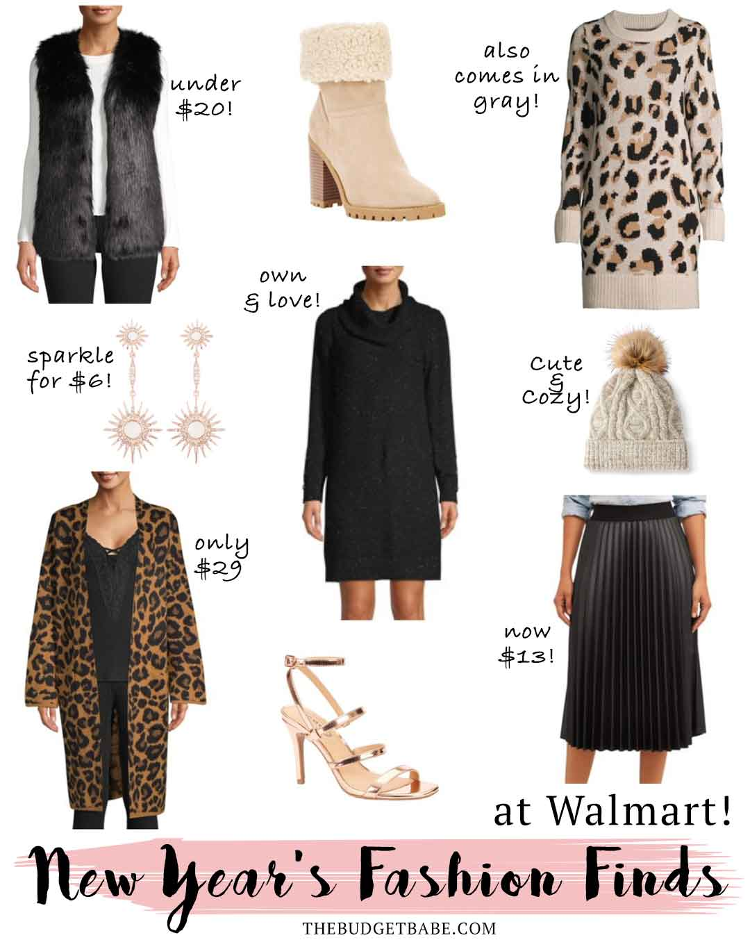 New Year's Fashion finds on a budget with Walmart! #ad