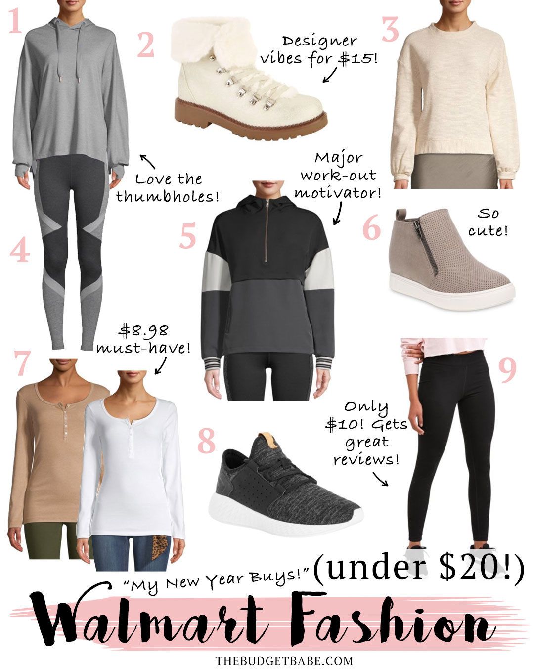 Walmart Fashion finds under $20! Workout gear, athleisure, cozy casual styles