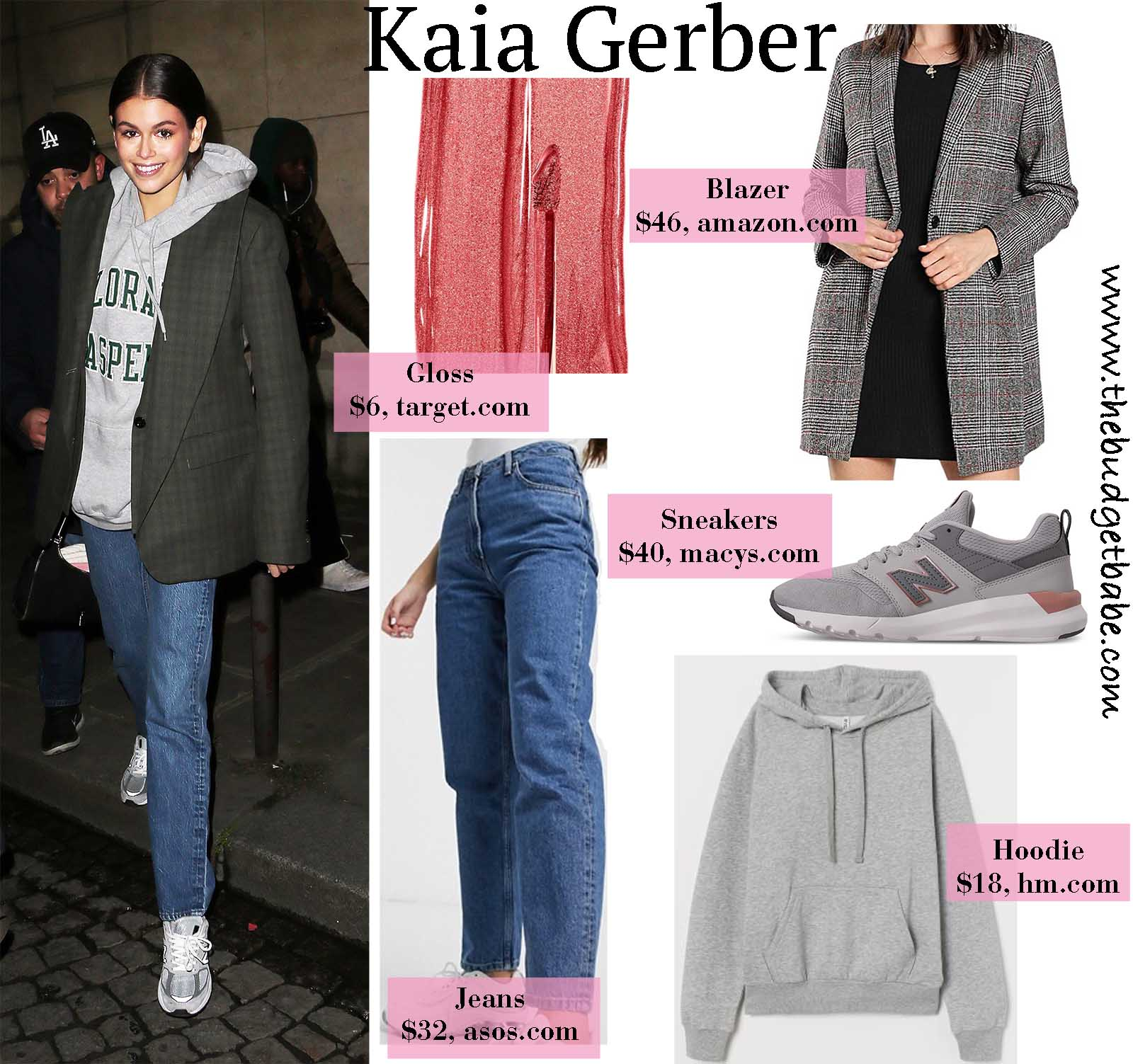 Kaia Gerber gives uss casual-chic  in menswear!