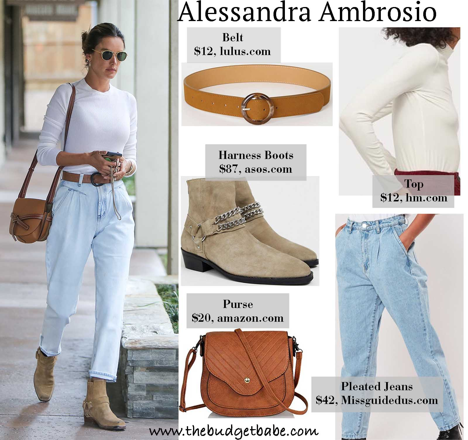 Alessandra's trendy denim is on our must-have list!
