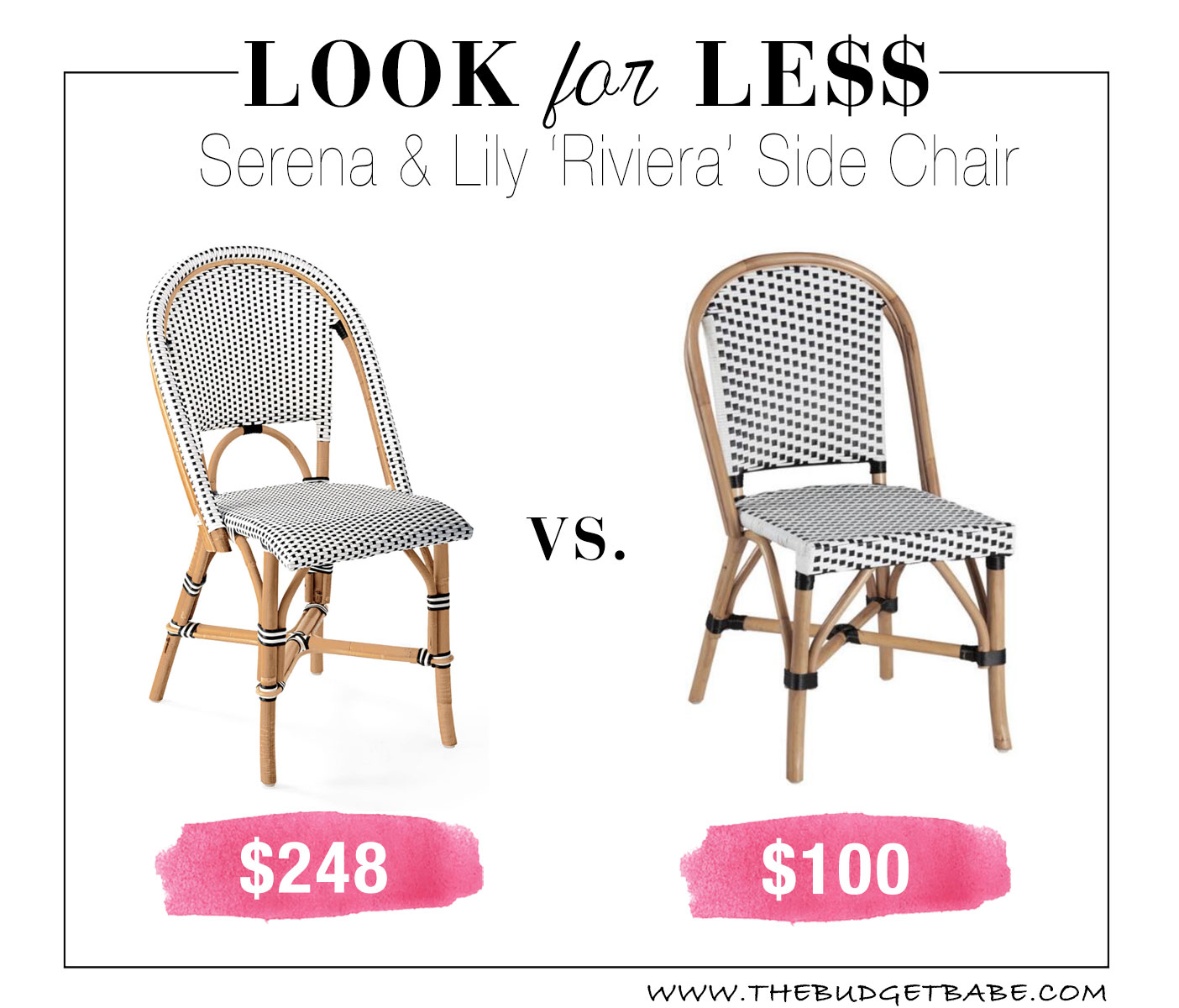 Serena & Lily 'Riviera' dining chair dupes at World Market!
