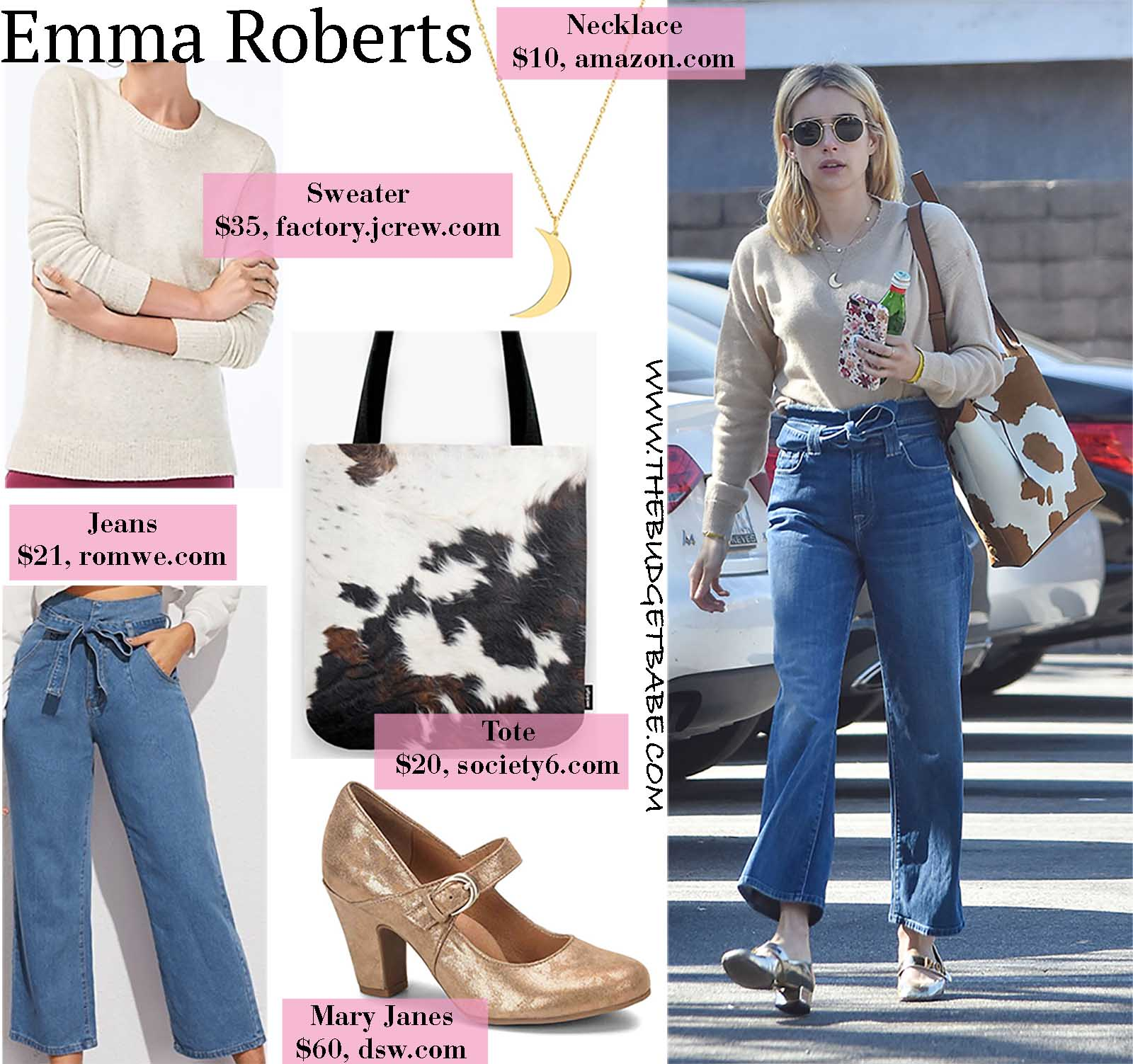 Emma wears the perfect transitional Spring outfit!