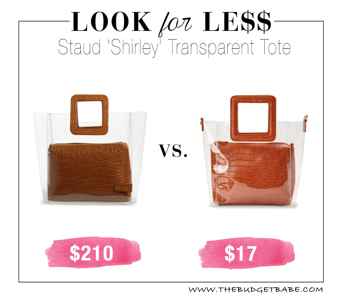Look for Less: Staud Shirley Clear Purse Dupe