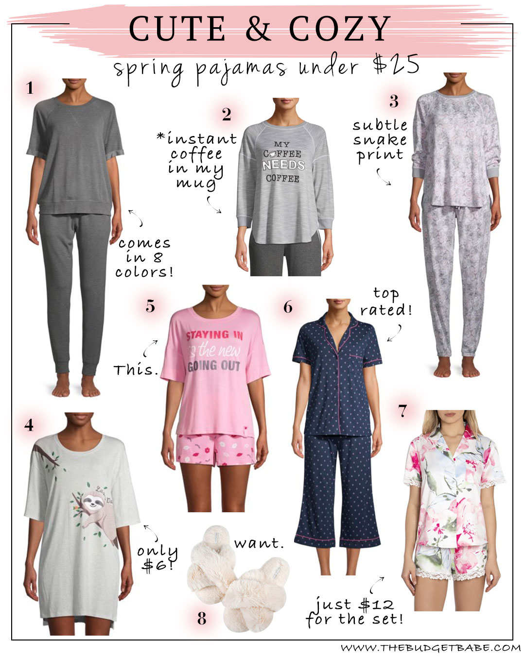 Spring pajamas under $25! Might as well...