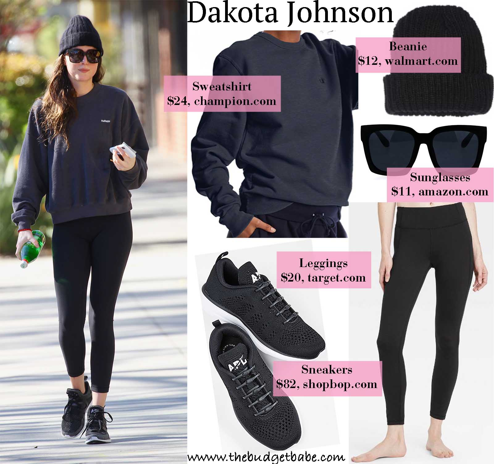 Dakota Johnson stays cozy in a stylish sweats.