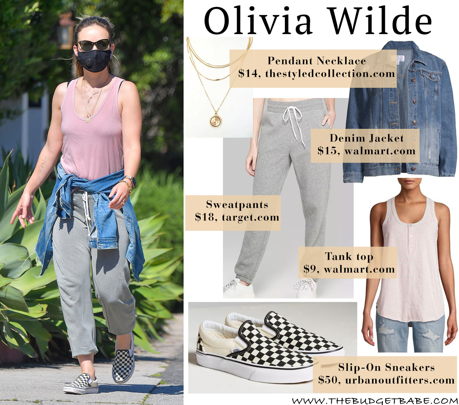 Olivia Wilde's social distancing look - so comfy and cute