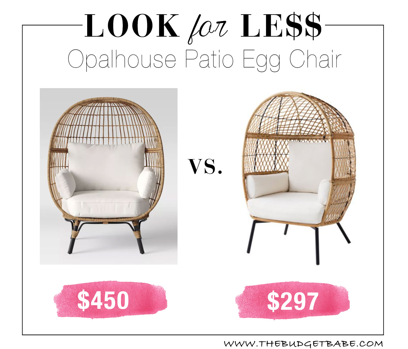 Patio Egg Chair Look for Less