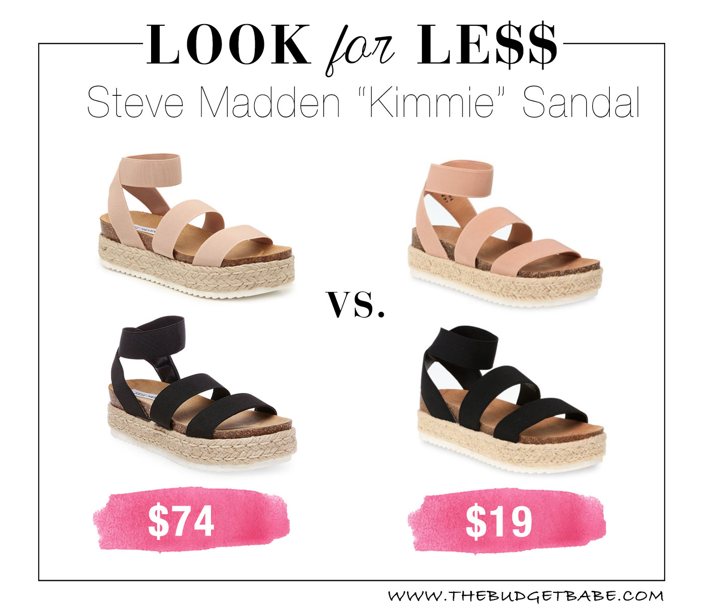 Steve Madden 'Kimmie' dupe sandals at Walmart