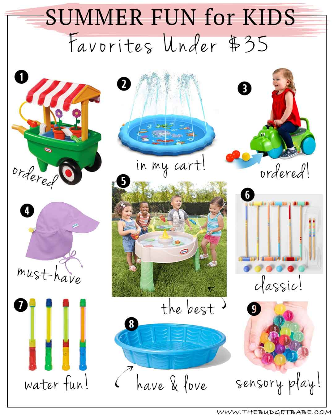 Best Summer Toys for Kids Under $35! Summer fun doesn't have to cost a lot