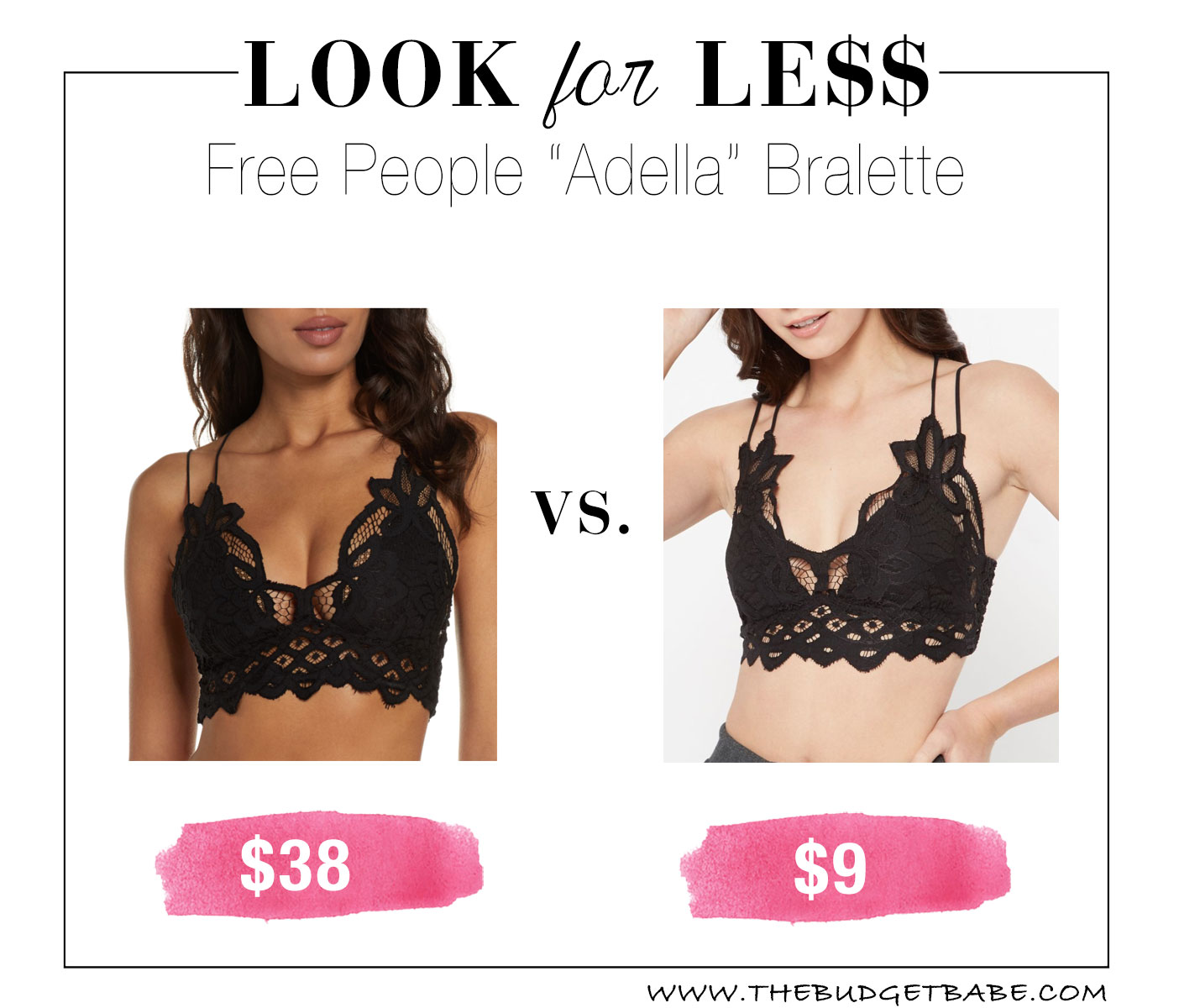 Free People 'Adella' lace bra dupe!