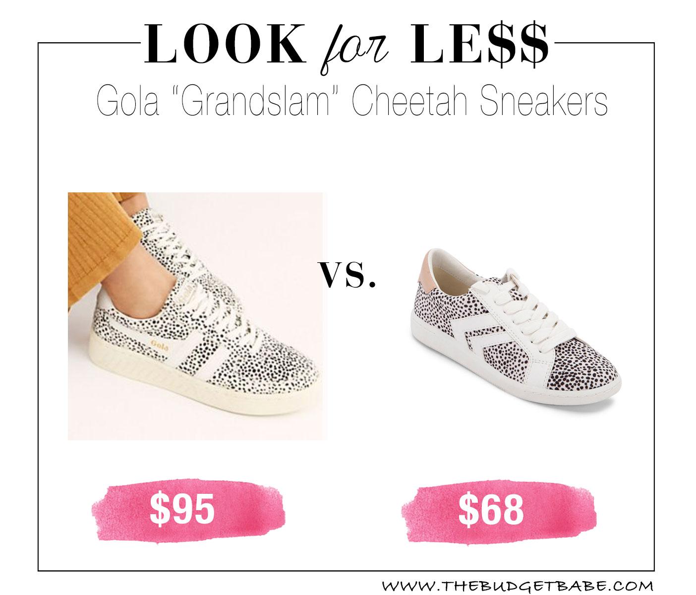 Gola Grandslam Cheetah Sneakers Dupe