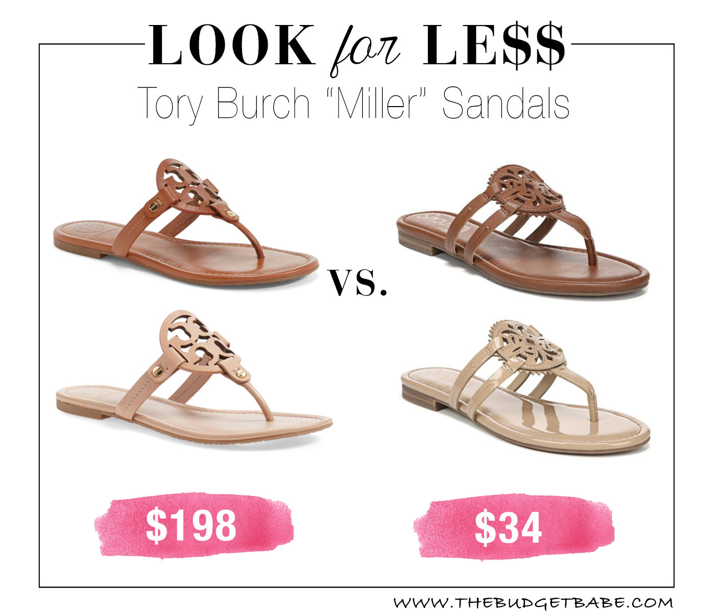 Tory Miller dupes - Miller flip flop sandals look for less