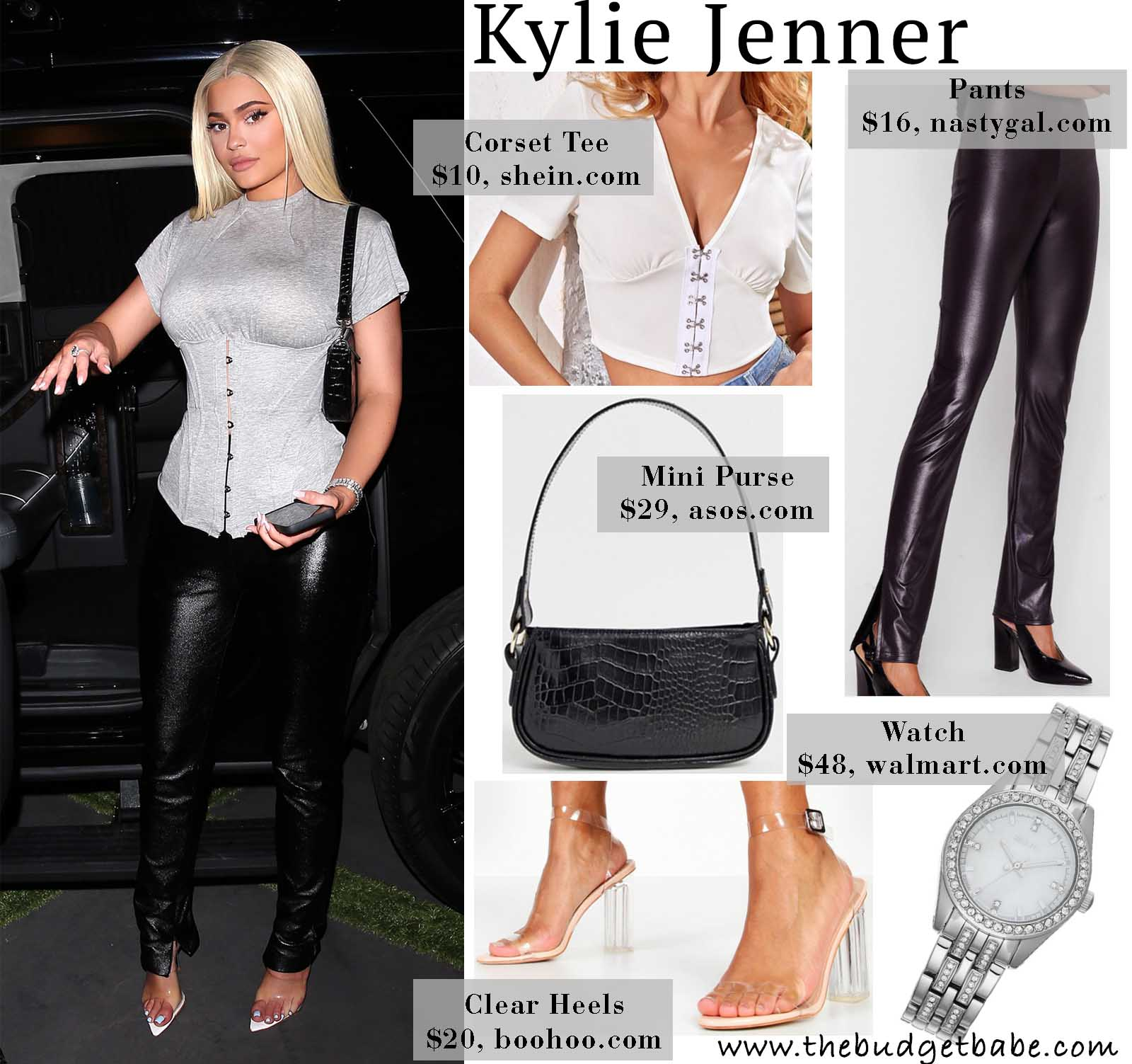 Kylie rocks a fresh take on the corset top.