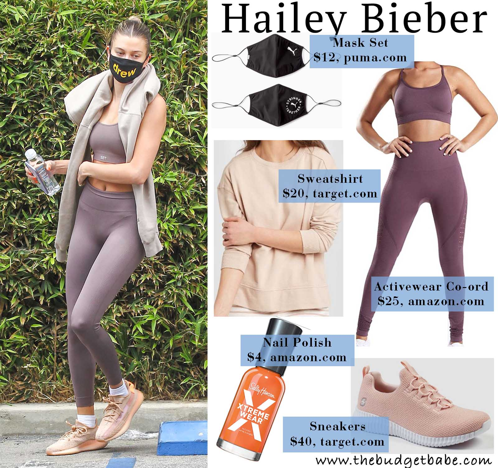 Hailey sweats in style!