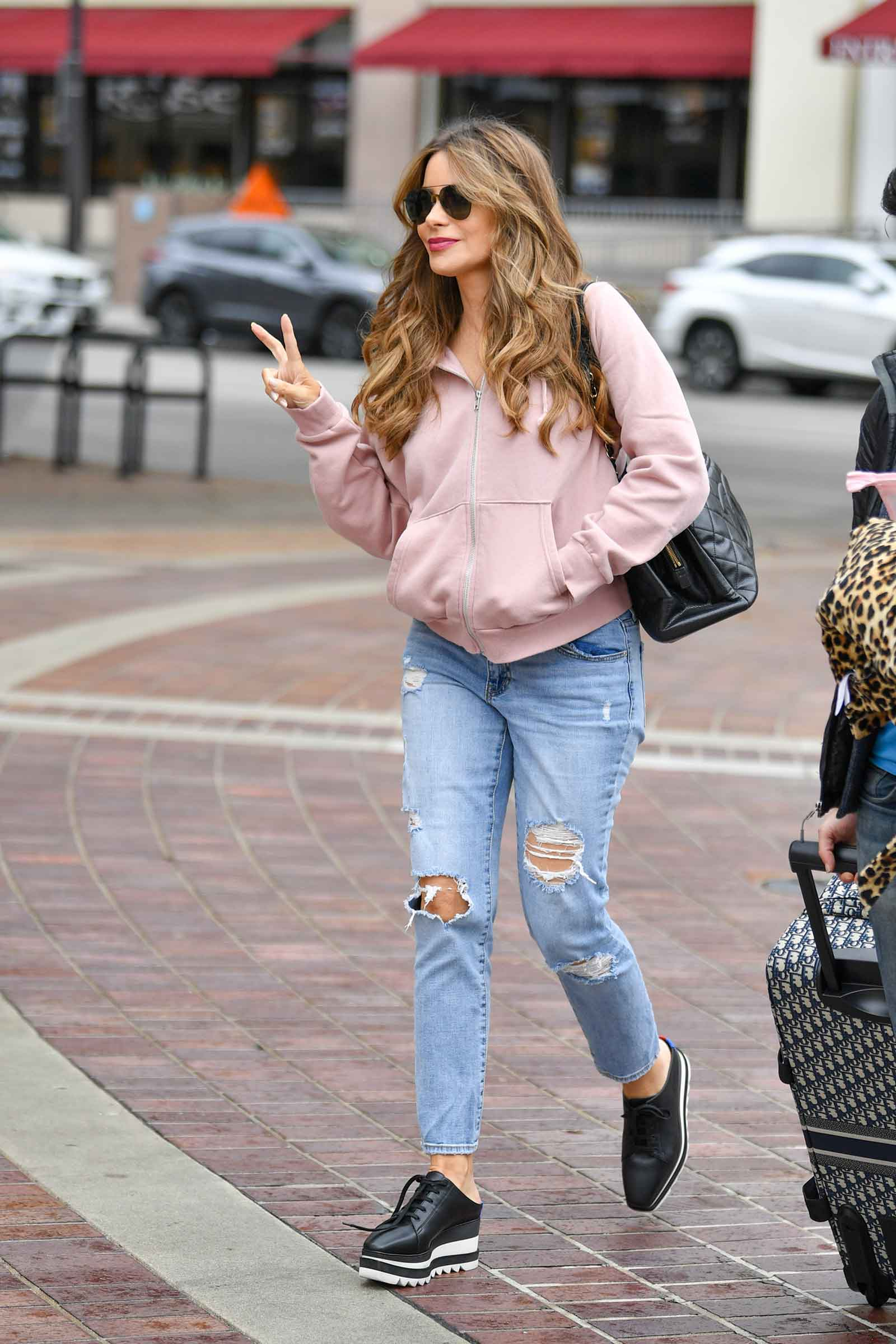 Sofia Vergara in Stella McCartney Platform Sneakers - Look for Less!