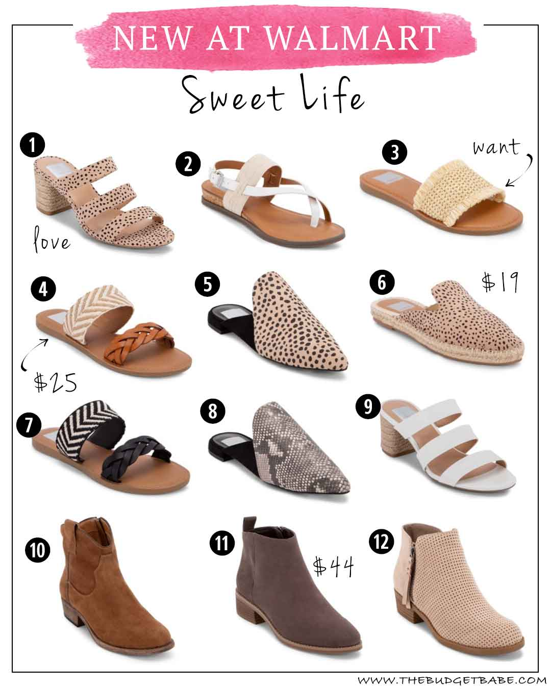 New at Walmart | Sweet Life Shoes from $19