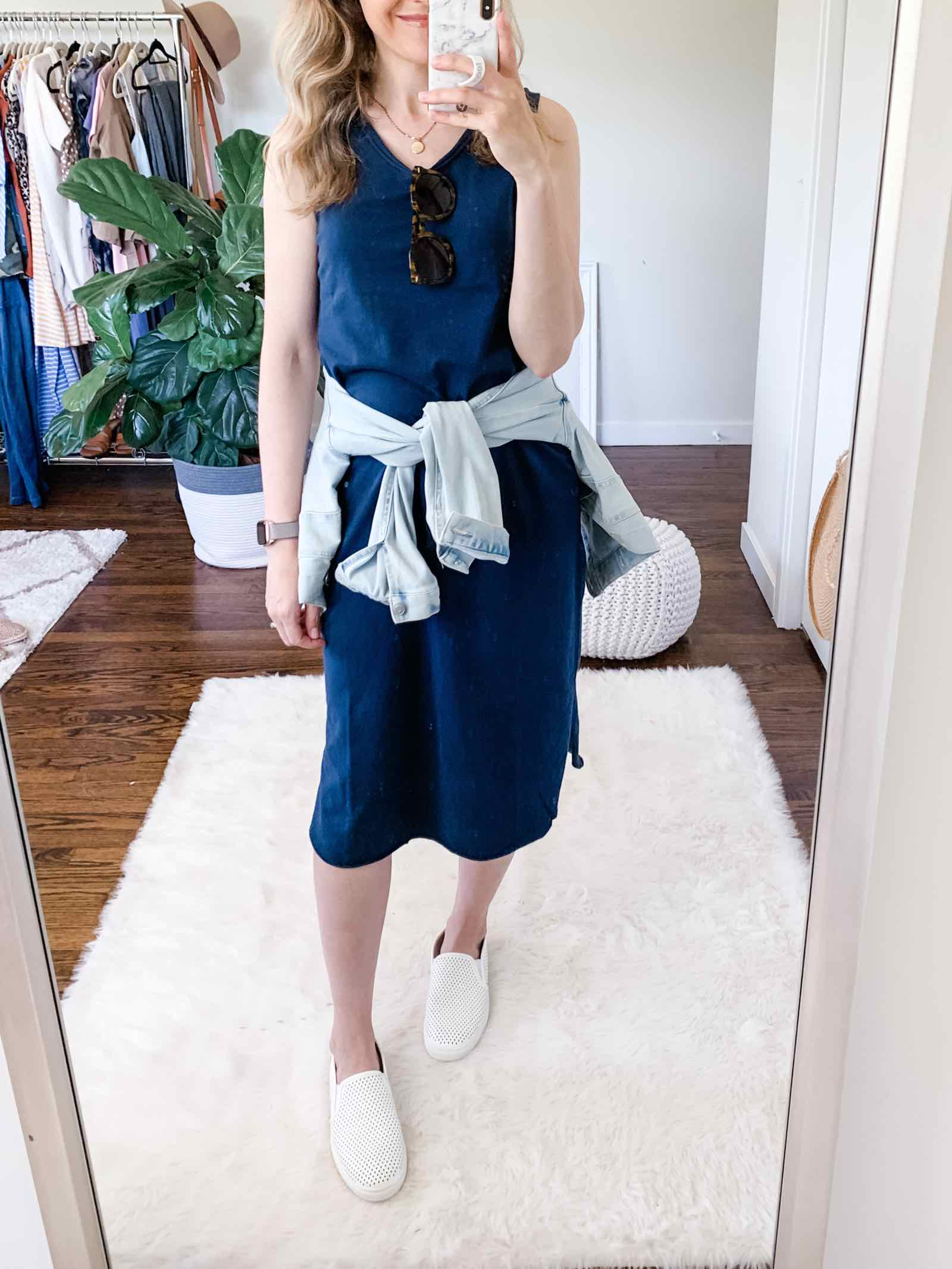 Walmart $13 midi dress, perfect summer staple!