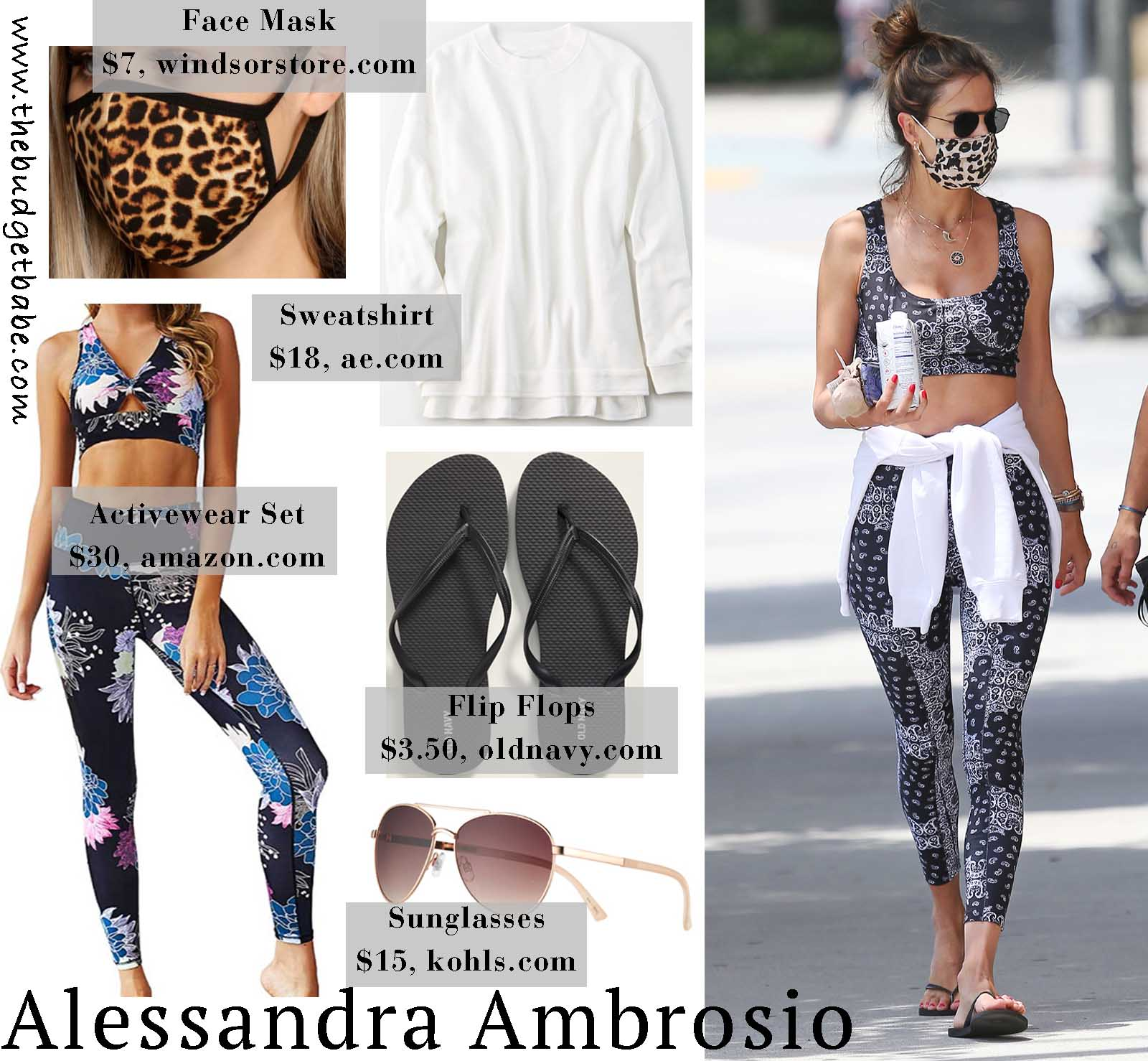 Alessandra is the ultimate workour inspiration in this cute set!