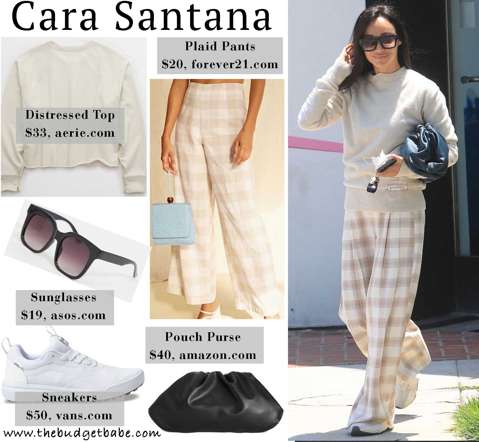 Cara Santana is comfy and cool in this sweater/pants combo!