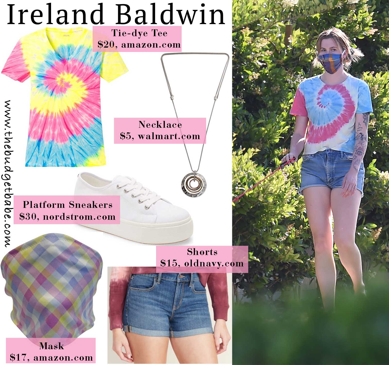 Ireland Baldwin rocks a tiedye shirt that we love!