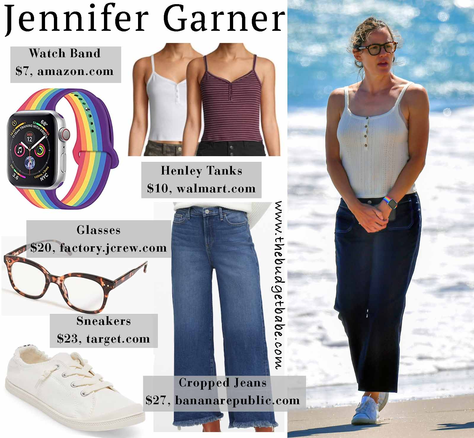Jenner Garner hits the beach in summer staples!
