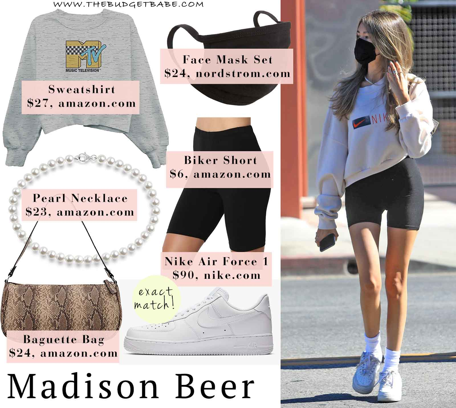 Madison Beer's Athleisure Look in Nike