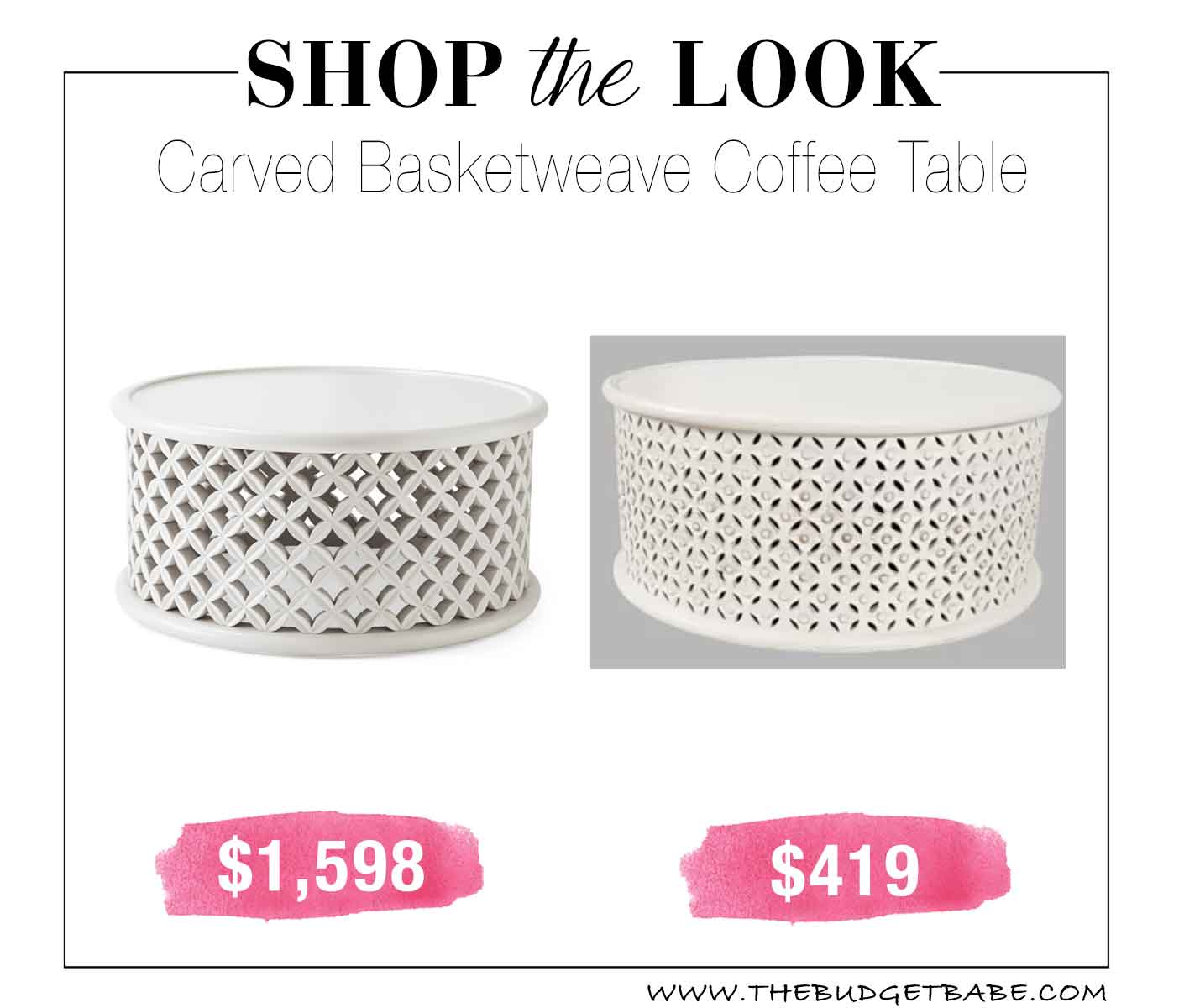 Shop the Look: Carved Basketweave Coffee Table
