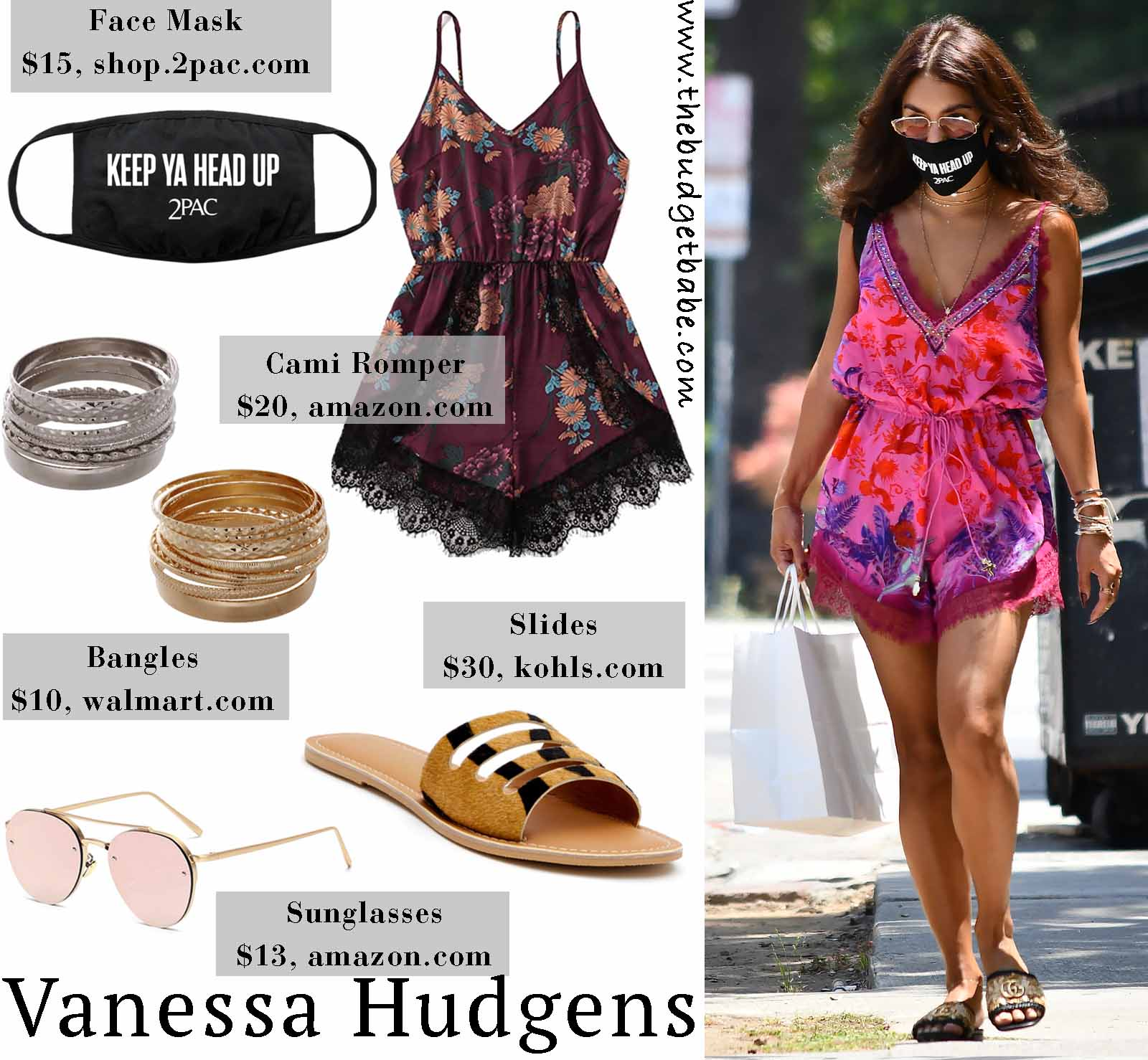 Vanessa Hudgens beats the heat in a satin romper!