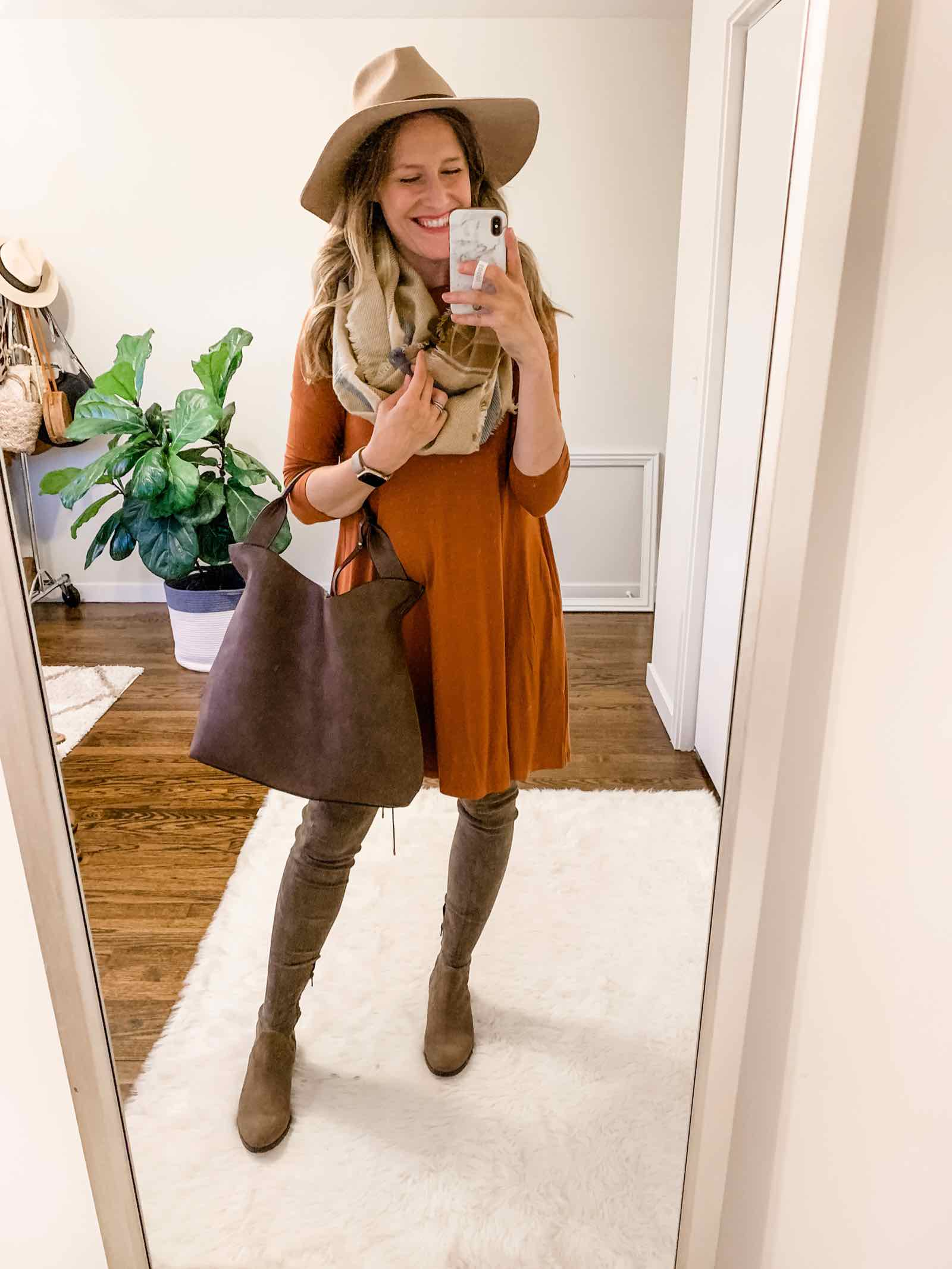 Love this kind of dress for fall! So easy to style