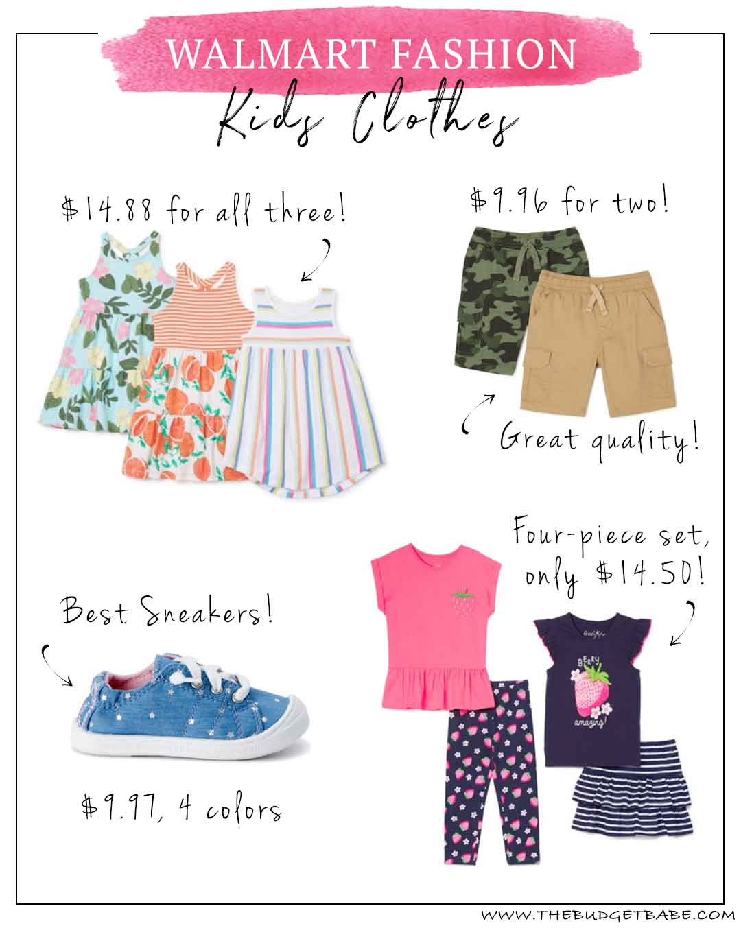 Best kids children clothing & shoe brands at Walmart