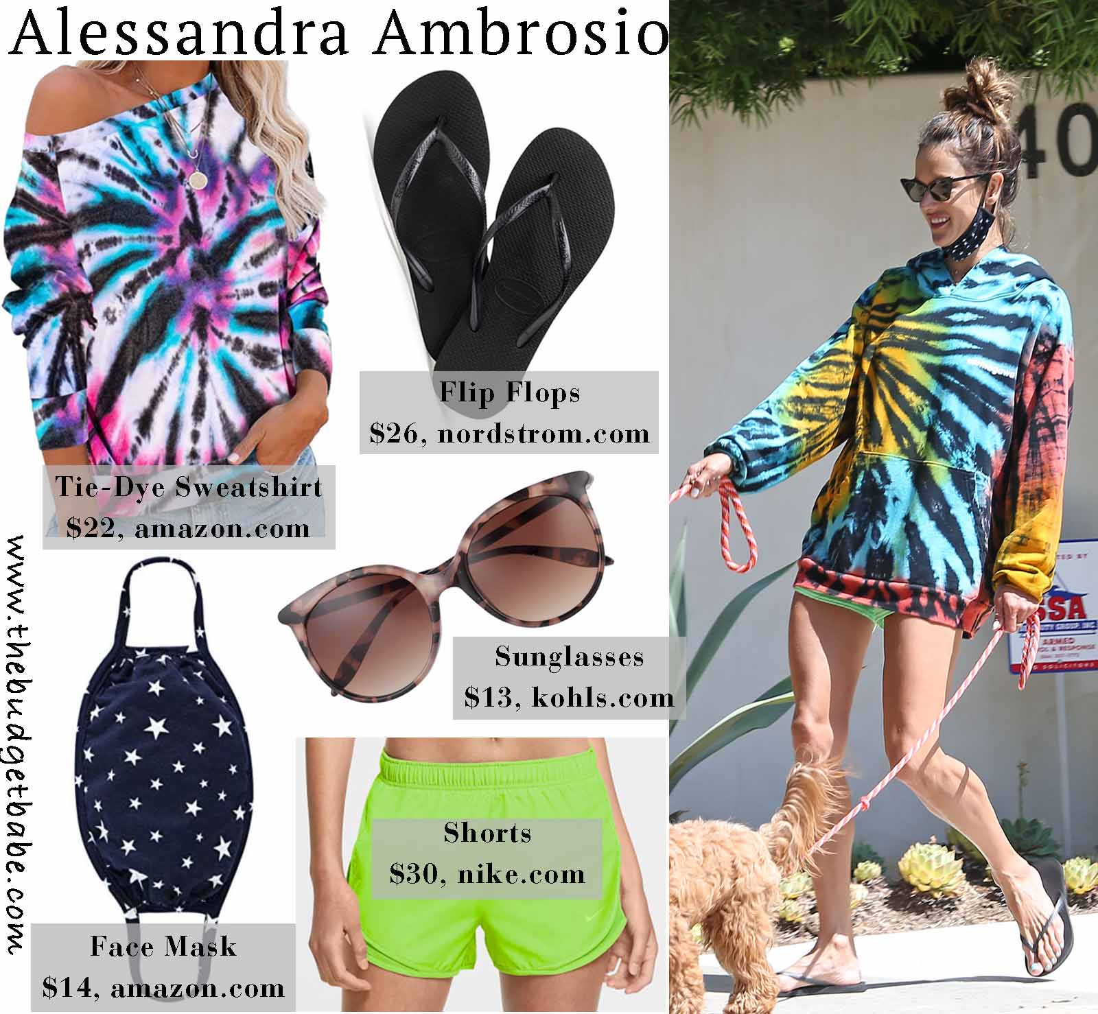 Alessandra's tie-dye hoodie is so cute!