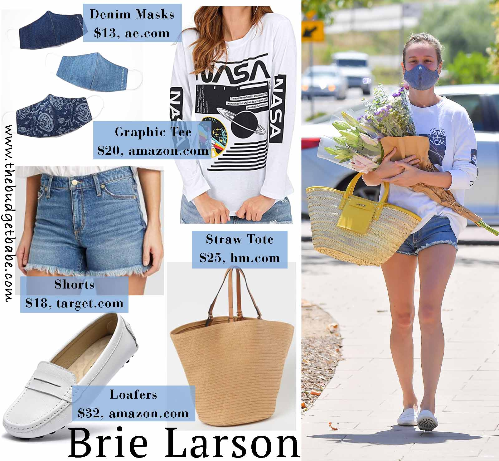 Brie Larson mixes casual and high end pieces!